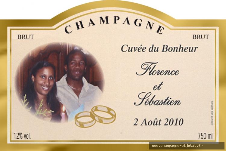 champagne marc bijotat cuve du bonheur - Tiquette Personnalise Champagne Mariage