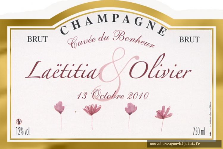 champagne marc bijotat cuve du bonheur - Etiquette Bouteille Champagne Mariage